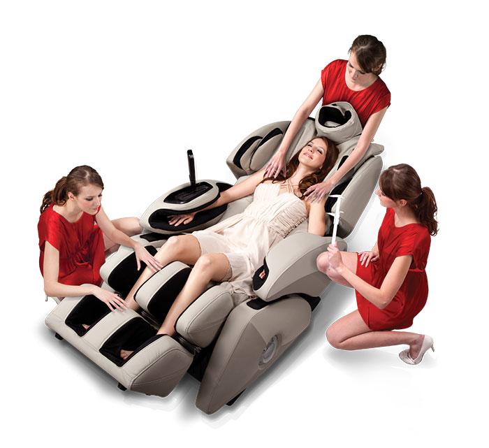 thử ghế massage ngay tại nhà