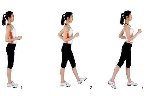 đi bộ đúng cách giảm mỡ bụng